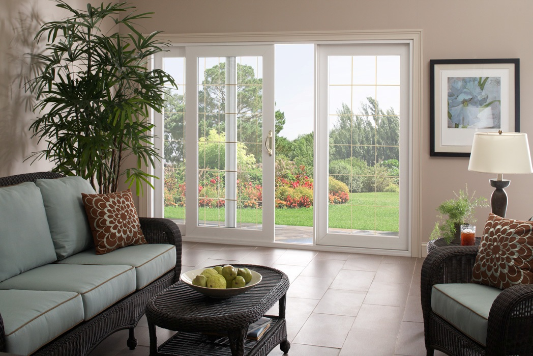 Dodds modern living center interior doors exterior doors for Small sliding glass patio doors